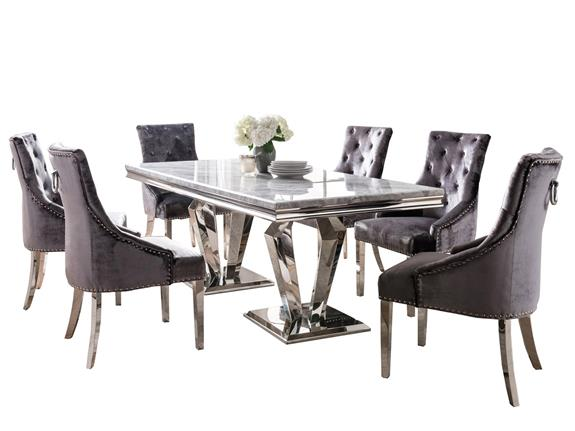 Dining Room Dining Sets Arturo 200cm Dining Table And 6 Chairs Buy At Stokers Fine Furniture Southport Chester And Ormskirk