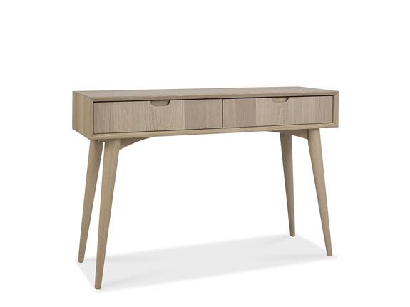 Living Room Dansk Skandi Oak Console Table With Drawers Buy At Stokers Fine Furniture Southport Chester And Ormskirk