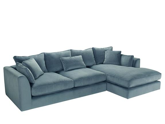 large right hand facing chaise sofa