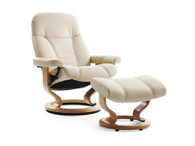 ekornes ambassador recliner chair stool buy at stokers fine