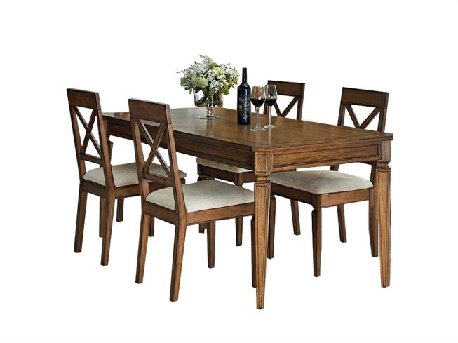 Dining Table And 4 Cross Back Chairs