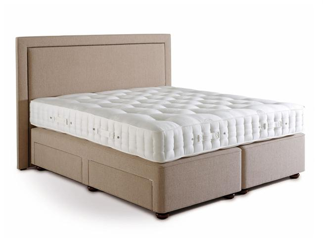 Hypnos beds the marlborough range 135cm double firm for Double divan with drawers