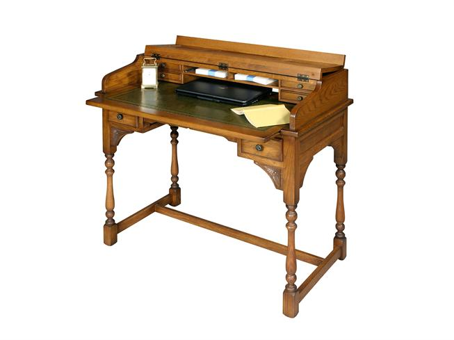 Phenomenal Buy Oak Writing Desk Stokers Fine Furniture Southport Home Interior And Landscaping Transignezvosmurscom