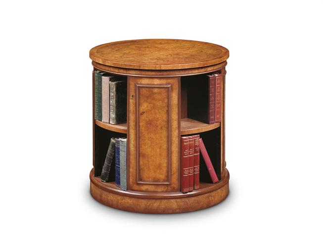 Buy walnut cabinet revolving end table stokers fine for Revolving end table